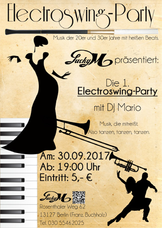 Die 1. Electroswing-Party mit DJ Mario im Lucky M.