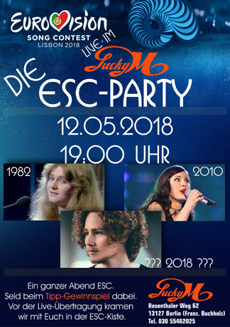 Die ESC-Party im Lucky M.!