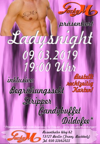 Ladies Night am 09.03.2019, ab 19 Uhr