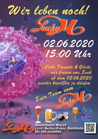 Endlich: ReOpening im Lucky M.